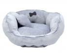 Ležaljka za male pse Minky grey