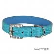 Ogrlica za male pse CELESTE kroko plava
