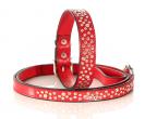 SWAROVSKI Ogrlica za psa Random Crystal Red